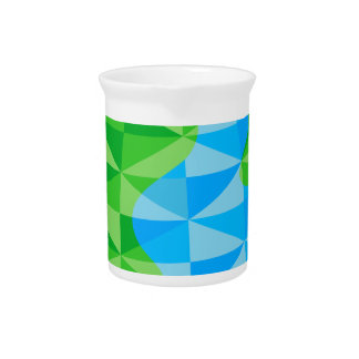 Low Poly Earth World Globe Icon Drink Pitchers