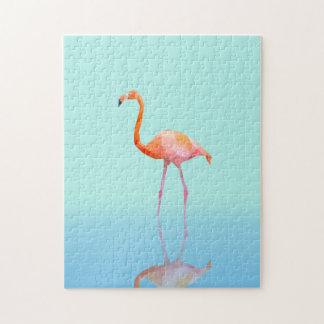 Low poly flamingo jigsaw puzzle