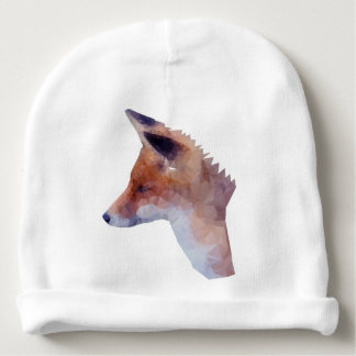 Low Poly Fox Baby Beanie