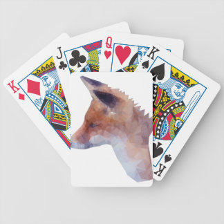 Low Poly Fox Bicycle Playing Cards