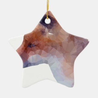 Low Poly Fox Ceramic Star Decoration