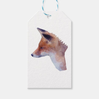 Low Poly Fox Gift Tags