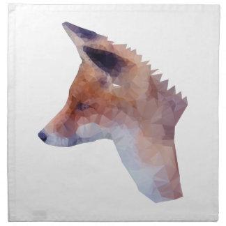 Low Poly Fox Napkin