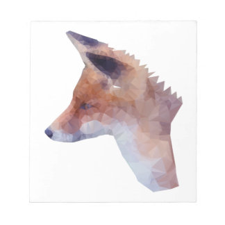 Low Poly Fox Notepad