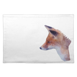 Low Poly Fox Placemat