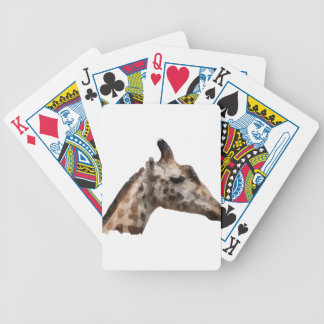 Low Poly Giraffe Bicycle Playing Cards