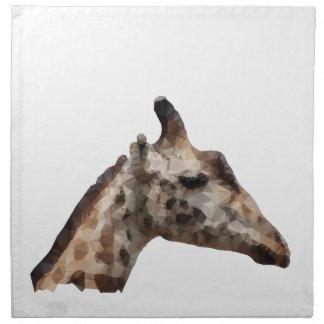 Low Poly Giraffe Napkin