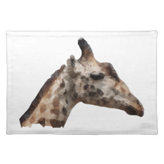 Low Poly Giraffe Placemat