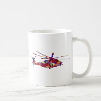 Low Poly Helicopter Icon Basic White Mug