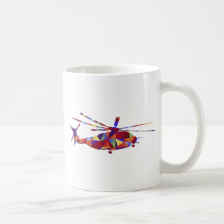 Low Poly Helicopter Icon Coffee Mug