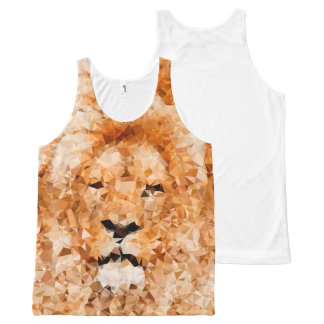 Low Poly Lion All-Over Printed Unisex Tank