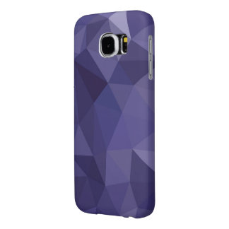 Low-Poly Purple Samsung Galaxy S6 Cases