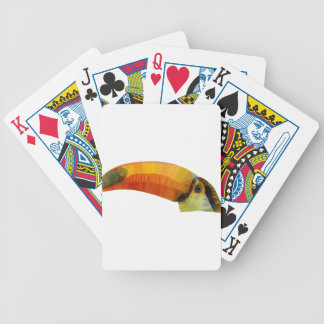 Low Poly Toucan Bicycle Playing Cards