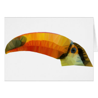 Low Poly Toucan Card
