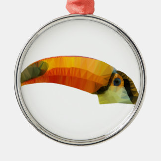 Low Poly Toucan Christmas Ornament