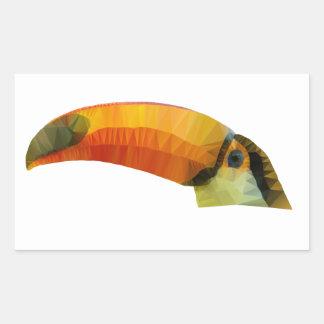 Low Poly Toucan Rectangular Sticker