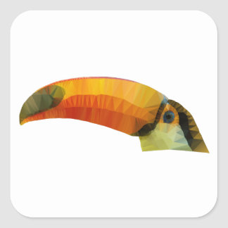 Low Poly Toucan Square Sticker