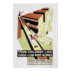 Low Rent Home Cleveland 1940 WPA Poster