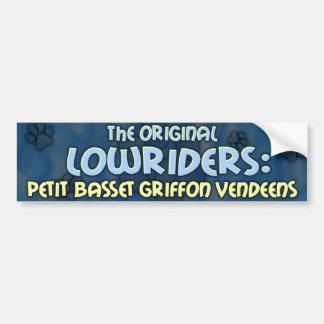 Low Rider PBGV Bumper Sticker
