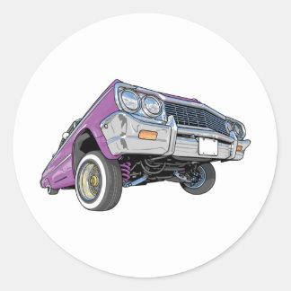 Low Rider Round Sticker