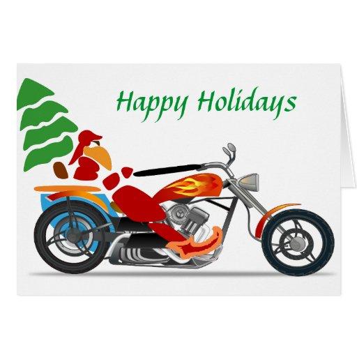 Low Rider Santa Christmas Card