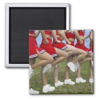 Low Section View of a Group of Cheerleaders Refrigerator Magnets