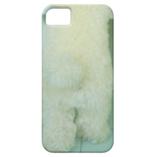 Low section view of a miniature poodle iPhone 5 case