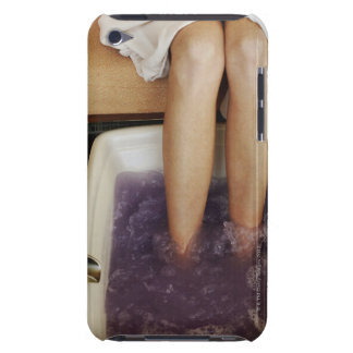 Low section view of a woman getting a pedicure barely there iPod covers