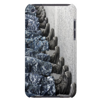 Low section view of sailors iPod touch covers