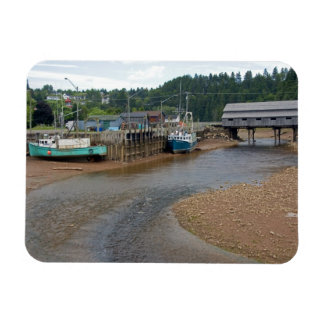 Low tide at the Bay of Fundy at St. Martins, New Rectangle Magnet