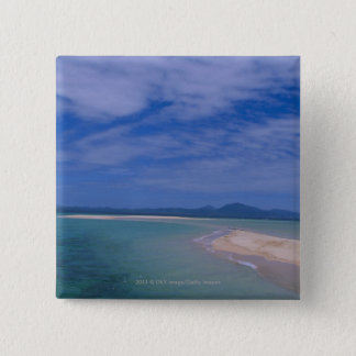 Low tide at the beach 15 cm square badge