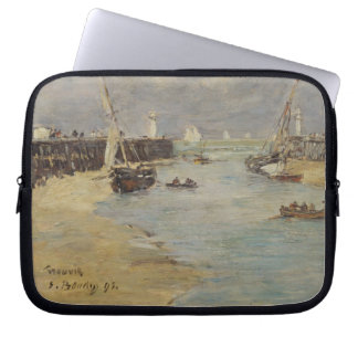 Low Tide at Trouville, 1895 (oil on panel) Laptop Sleeve