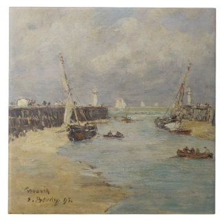 Low Tide at Trouville, 1895 (oil on panel) Tile