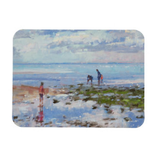 Low Tide Charmouth 2012 Rectangular Photo Magnet