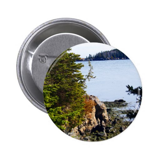 Low Tide On The Coast 6 Cm Round Badge