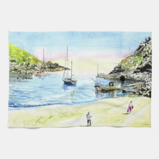 Low Tide, Polperro Hand Towels