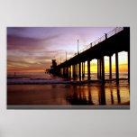 Low tide reflections at sundown, Huntington Beach