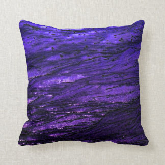 Low tide - violet cushion