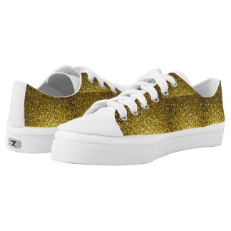Low Top Shoes Gold glitter for men and women