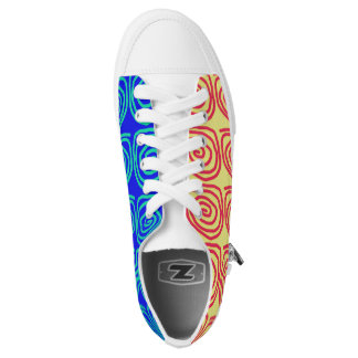 Low Top Shoes in Split Colours Printed Shoes