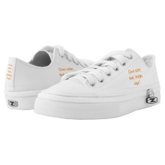 Low Top Shoes Own Color - uni White Printed Shoes