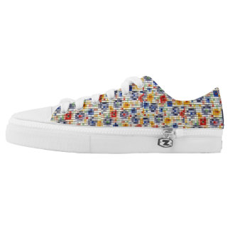 Low Top Shoes Printed Shoes