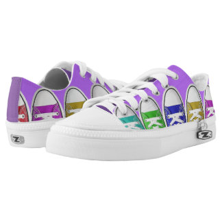 Low top shoes with color shoes design. printed shoes