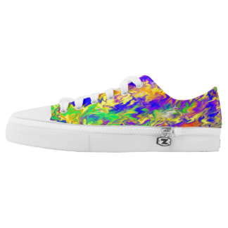 Low Top Shoes with colour Printed Shoes