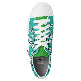 Low tops blue printed converse Designer Sneakers