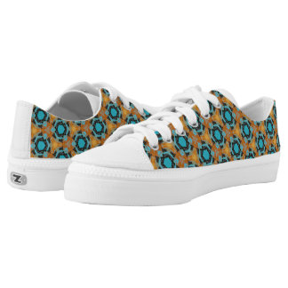 Low tops Zips shoes Printed Shoes
