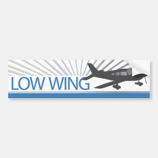 Low Wing Airplane Bumper Stickers