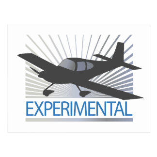 Low Wing Experimental Airplane Postcard