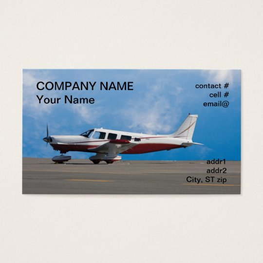 low wing light aircraft business card