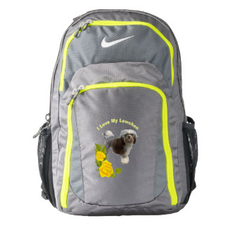 Lowchen and Yellow Roses Backpack